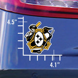 4.1x4.5 sticker, Pittsburgh Three Rivers Sisters, Steelers, Pirates, Penguins, Sports Fan