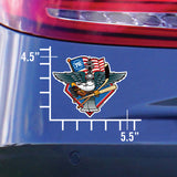Fly, Philly, Fly! Sports Fan Crest, sticker decal die cut vinyl, on a car