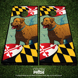 Maryland Chessie Cornhole Boards & Vinyl Skin Wraps, 24x48""
