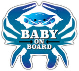 Baby On Board, Blue Crab, Car Sticker, 4.75x4.25, Maryland
