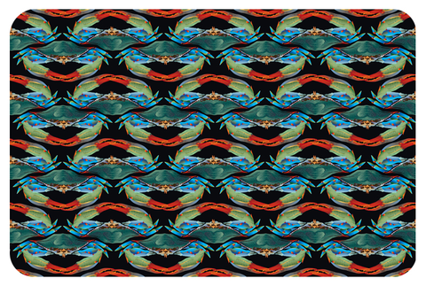 Cozy Crab Pattern Fleece Blanket, 37 x 54""