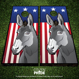USA Donkey Cornhole Boards & Vinyl Skin Wraps, 24x48""
