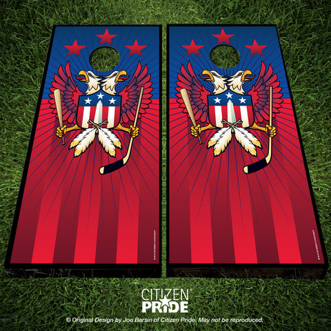 Washington Double Eagle Sports Crest Cornhole Boards, 24x48""