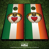 Irish Claddagh Cornhole Boards & Vinyl Skin Wraps, 24x48""