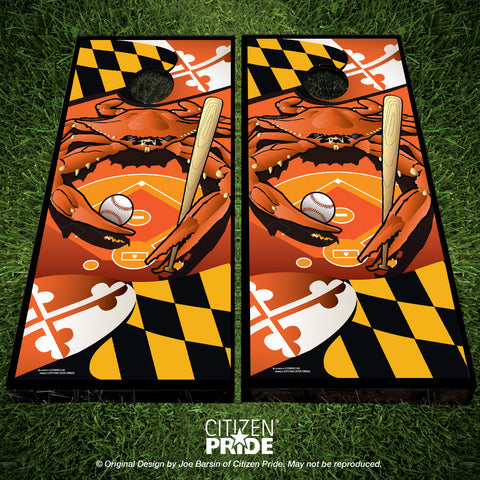 Orioles Sports Crab of Baltimore Cornhole Boards