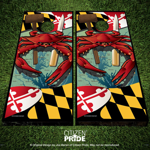 Maryland Crab Feast 2 Cornhole Boards, 24x48""