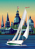 NEW! Schooner Woodwind: Chesapeake Bound Canvas Print by Joe Barsin, 10x14x1.5