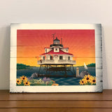 Thomas Point Lighthouse of Maryland, Wooden Sign, 11.75 x 8.75 x 1""