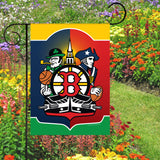 Display of Boston Sports Fan Crest Garden Flag by Joe Barsin, 12x18
