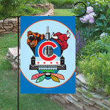 Display of Chicago Sports Fan Crest Garden Flag by Joe Barsin, 12x18