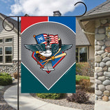 Display of Fly, Philly, Fly! Sports Fan Crest Garden Flag by Joe Barsin, 12x18 Flag