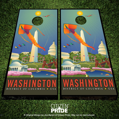 Washington DC: Springtime Cornhole Boards & Vinyl Skin Wraps, 24x48""