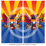 Arizona Sports Fan Crest Cornhole Board Vinyl Skin Wraps, 24x48""