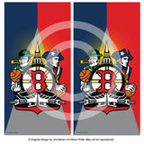 Boston Sports Fan Crest Cornhole Board Vinyl Skin Wraps, 24x48""
