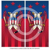 Washington Double Eagle Sports Crest Cornhole Board Vinyl Skin Wraps, 24x48""