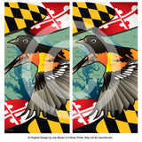 Maryland Orioles Cornhole Boards & Vinyl Skin Wraps, 24x48""