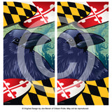 Maryland Raven Cornhole Boards & Vinyl Skin Wraps, 24x48""