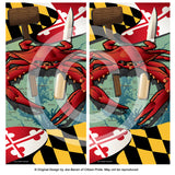 Maryland Crab Feast 2 Cornhole Boards & Vinyl Skin Wraps, 24x48""