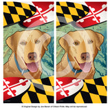 Maryland Yellow Lab Cornhole Boards & Vinyl Skin Wraps, 24x48""