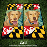 Maryland Yellow Lab Cornhole Boards, 24x48""