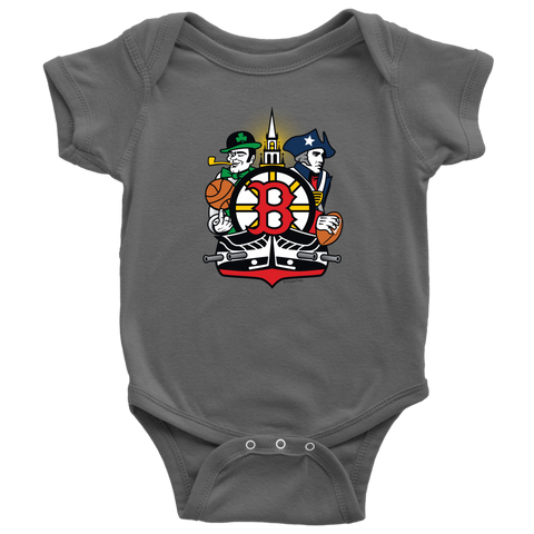 Boston Sports Fan Crest - Baby Onesie
