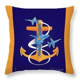 Anchors Aweigh Fouled Anchor - Throw Pillow