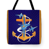 Anchors Aweigh Fouled Anchor - Tote Bag