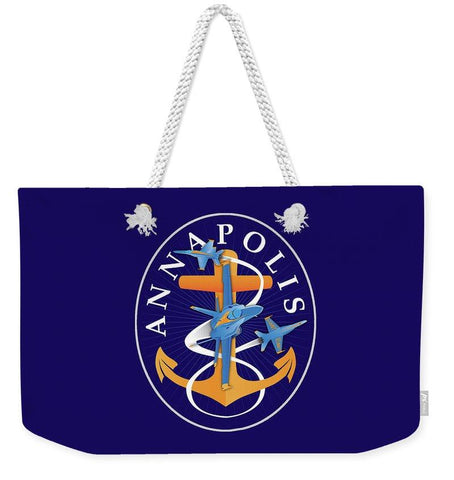 Annapolis Aweigh Fouled Anchor - Weekender Tote Bag