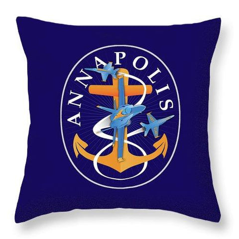 Annapolis Aweigh Fouled Anchor - Throw Pillow