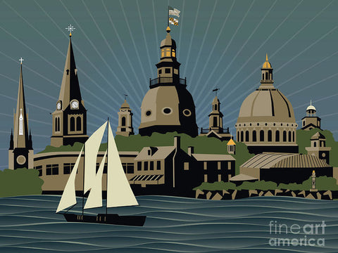 Annapolis Steeples And Cupolas Serenity - Art Print