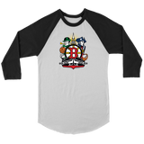 Boston Sports Fan Crest - Unisex 3/4 sleeve raglan shirt