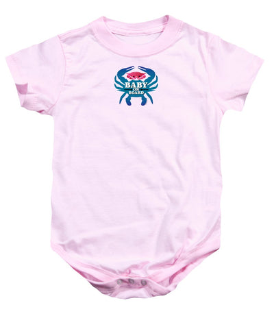 Baby On Board, Pink Crab - Baby Onesie