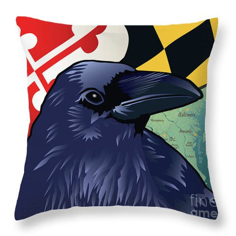 Baltimore Raven - Throw Pillow