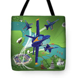 Blue Angels Over Annapolis - Tote Bag
