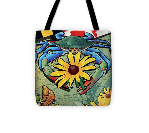 Blue Crab Maryland Black-eyed Susan - Tote Bag