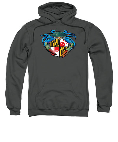 Blue Crab Maryland Crest - Sweatshirt