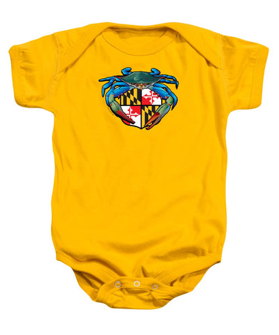 Blue Crab Maryland Crest - Baby Onesie