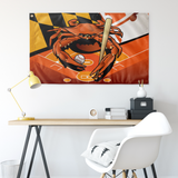 "Orioles Sports Crab of Baltimore, Large Flag, 60 x 36"" with 2 grommets"