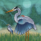 Coastal Blue Herons of The Chesapeake Bay - Art Print