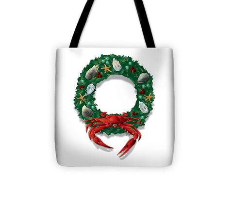 Coastal Crab Wreath - Tote Bag