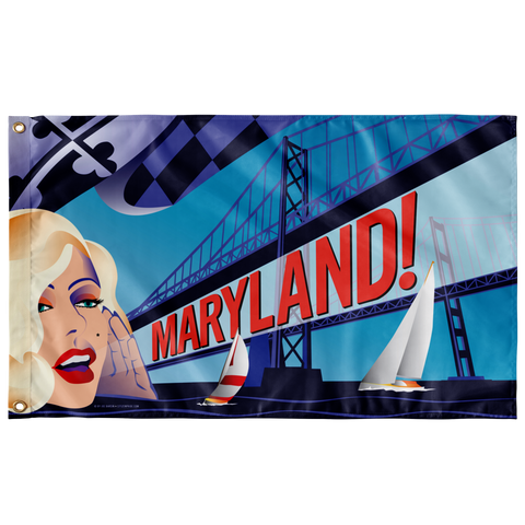 "Maryland Monroe, Large Flag, 60 x 36"" with 2 grommets"