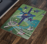 Blue Angels Over Annapolis, Mayland, Doormat, 26x18""