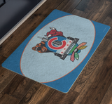 Chicago Sports Fan Crest Doormat, 26x18""