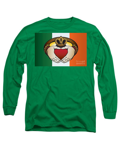 Irish Claddagh Ring - Long Sleeve T-Shirt