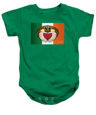 Irish Claddagh Art - Baby Onesie