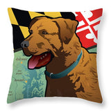 Maryland Chesapeake Bay Retriever  - Throw Pillow
