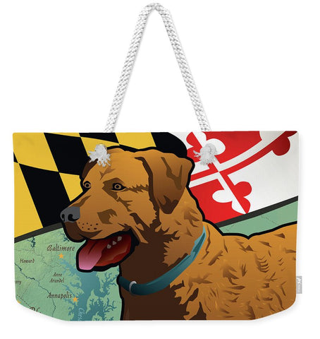 Maryland Chesapeake Bay Retriever  - Weekender Tote Bag
