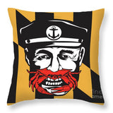 Maryland Captain Crab - Throw Pillow square