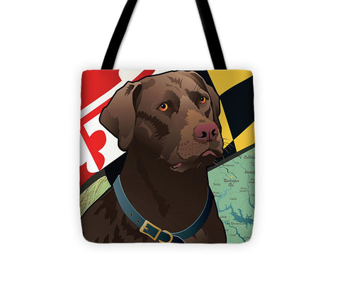 Maryland Chocolate Lab - Tote Bag