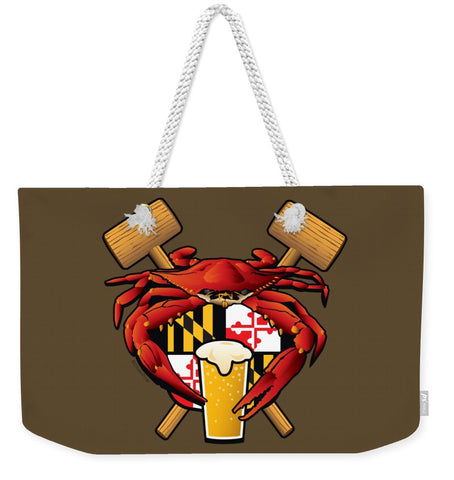 Maryland Crab Feast Crest - Weekender Tote Bag